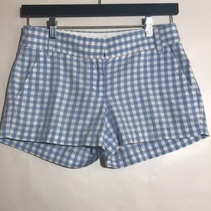 J Crew factory plaid chino shorts size 0